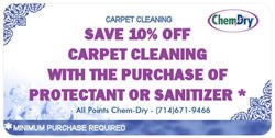 Save 10% on Carpet Cleaning in Yorba Linda